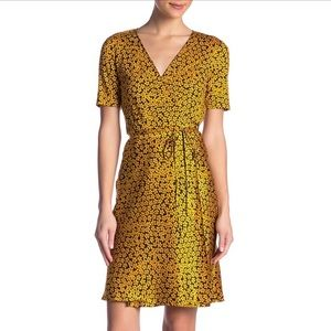 DVF Flare Silk Wrap Floral Dress, With Tags